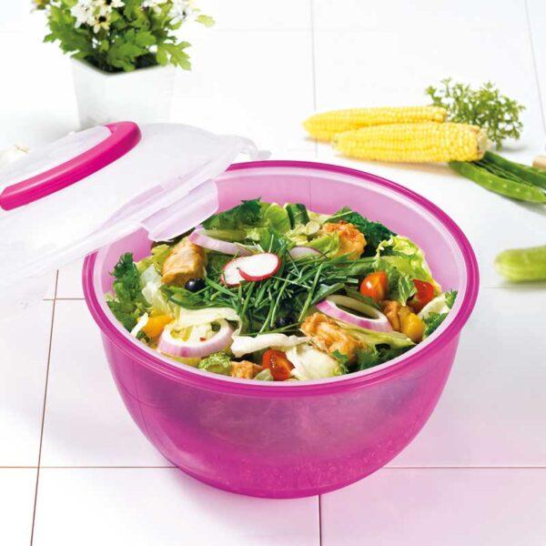 Salad-to-go Saladebak roze 6.0 liter