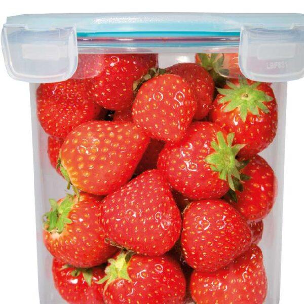 luxe vershouddoos rond aardbeien