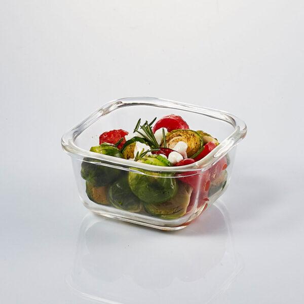 glazen-ovenschaal-deksel-300-ml-vierkant