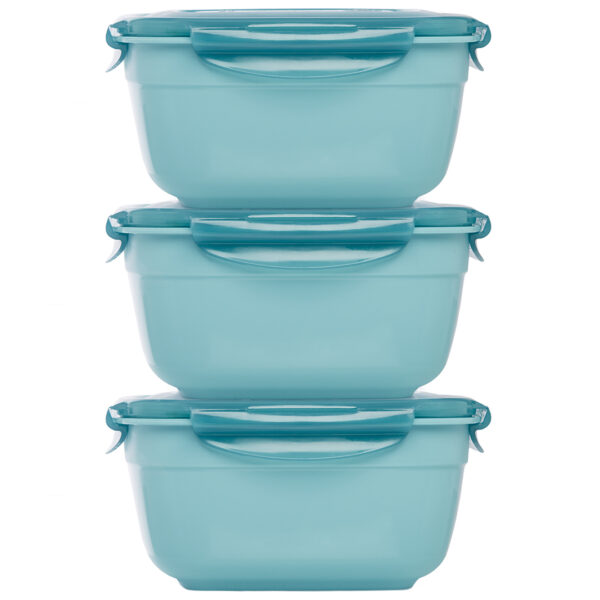 Stapelbare vershouddozen 1600 ml blauw set 3-delig