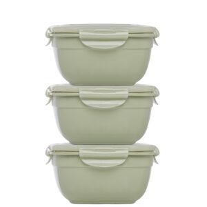 Stapelbare vershouddozen 950 ml groen set 3-delig
