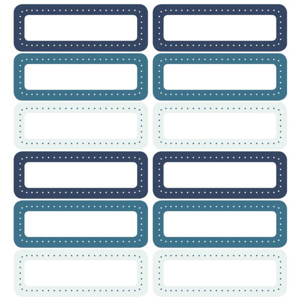 Stickervel blauw - 12 stickers