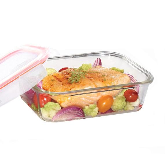Glazen ovenschaal met deksel 1.0 liter