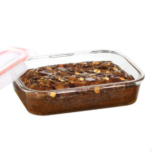 Glazen ovenschaal met deksel 1.6 liter