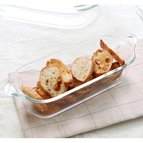 Glazen ovenschaal met handgreep 1.3 L