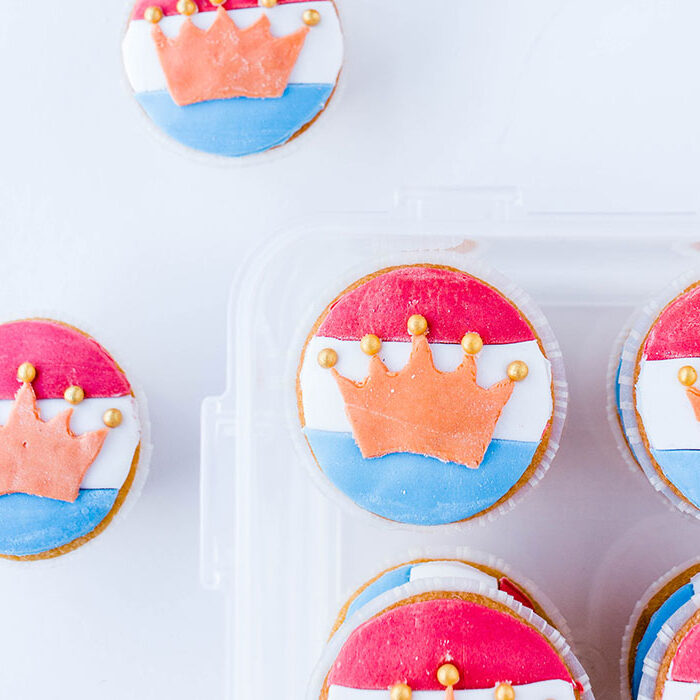oranje hapjes cupcakes