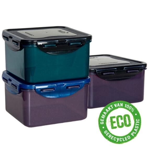 ECO vershoudbakjes 1,2 liter vierkant