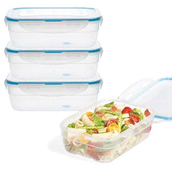 voordeelverpakking stapelbare vershoudbakjes 1200 ml
