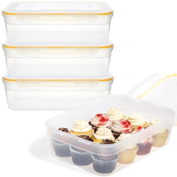 voordeelverpakking stapelbare vershoudbakjes 5,8 liter