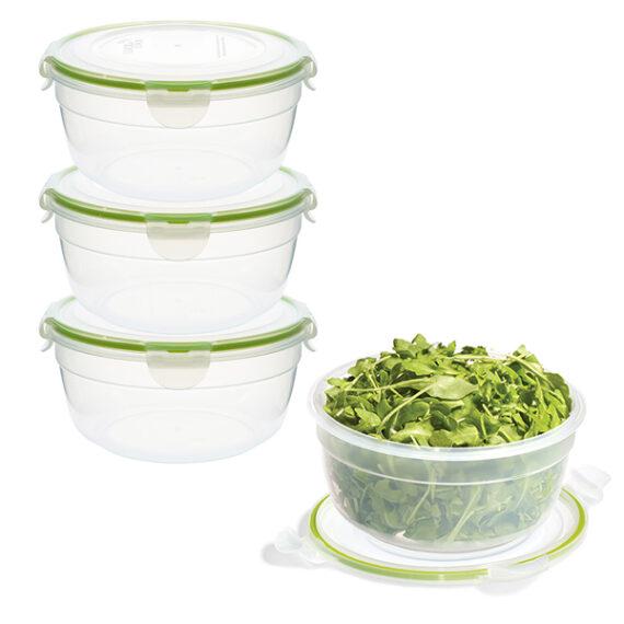 voordeelverpakking stapelbare vershoudbakjes 1400 ml