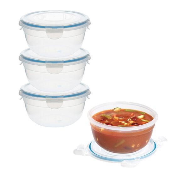 voordeelverpakking stapelbare vershoudbakjes 850 ml