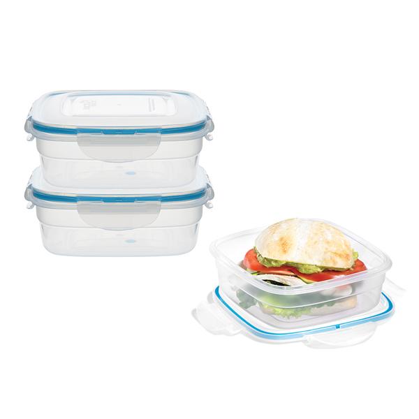 voordeelverpakking stapelbare vershoudbakjes 750 ml