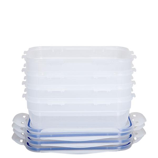 voordeelverpakking stapelbare vershoudbakjes 1,2 liter