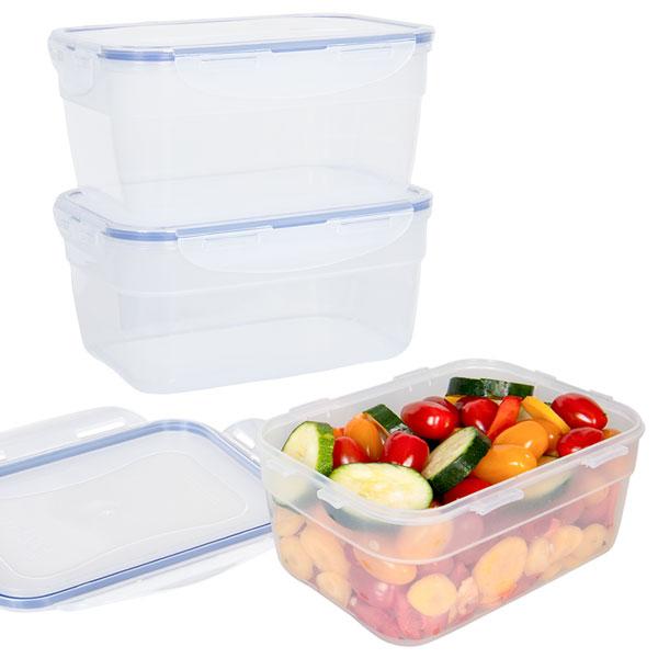 voordeelverpakking stapelbare vershoudbakjes 1,8 liter