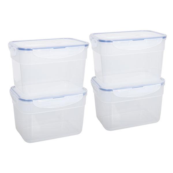 voordeelverpakking stapelbare vershoudbakjes 2,4 liter