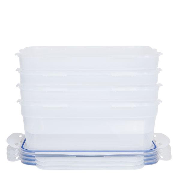 voordeelverpakking stapelbare vershoudbakjes 3 liter