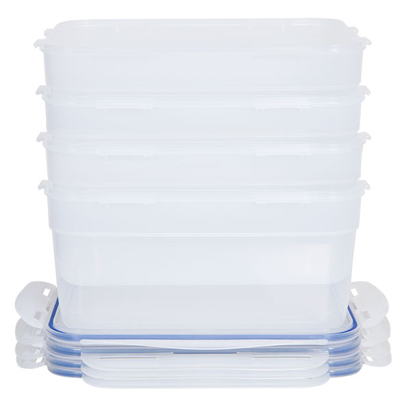 voordeelverpakking stapelbare vershoudbakjes 4,4 liter