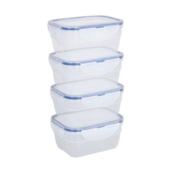 voordeelverpakking stapelbare vershoudbakjes 550 ml