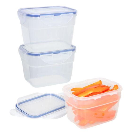 voordeelverpakking stapelbare vershoudbakjes 800 ml